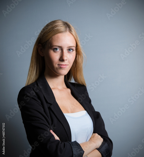 canvas print picture young business woman