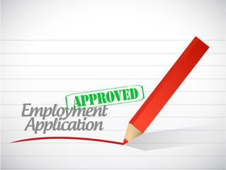 approved employment application illustration