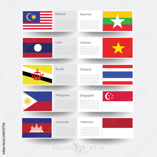 Southeast Asian Flag Flags of Southeast Asia