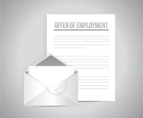 offer off employment email letter illustration