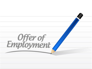 offer of employment message sign illustration