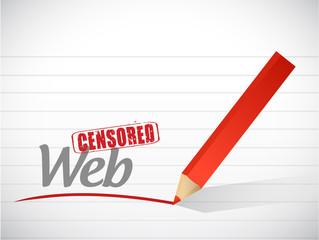 censored web message illustration design