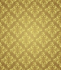 Gold floral vector background