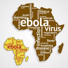 Ebola word cloud background