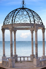 Pavilion on a beach.