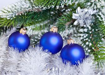 Dark blue New Year's ball