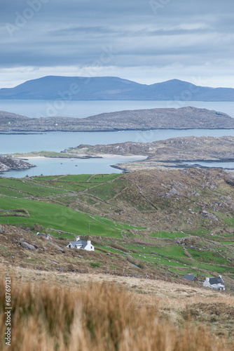 canvas print picture Panorama am Ring of Kerry, Irland