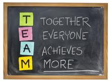 Team. Concepto de trabajo en equipo