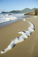 Sea Foam Scenic Brazilian Beach Trindade Paraty Brazil RJ