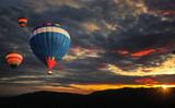 Fototapeta Colorful hot air balloon