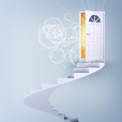 Spiral stairs and magic doors