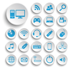 Computer icons vector collection