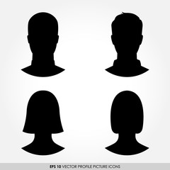 Set of male and female avatar profile pictures