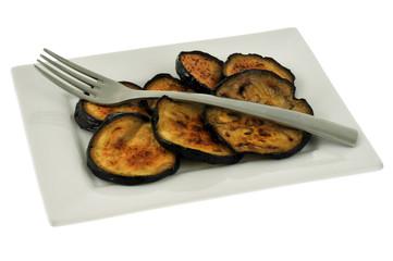 Assiette d'aubergines grillées