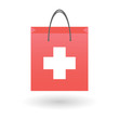 Shopping bag with a swiss flag