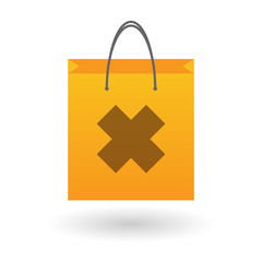 Shopping bag with an irritating substance icon