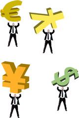 sostenere la valuta internazionale