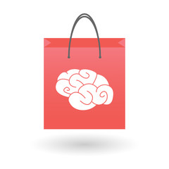 Shopping bag with a brain icon