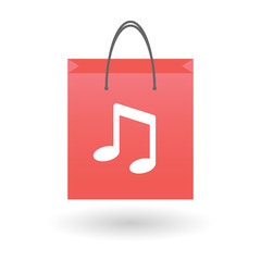 Shopping bag with a musical note icon