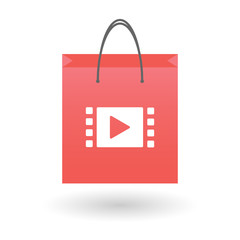 Shopping bag with a multimedia icon