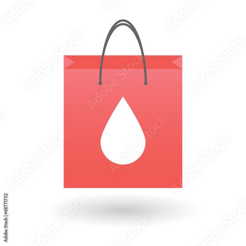 Shopping bag with a drop icon