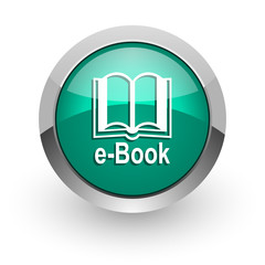 book green glossy web icon