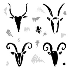 Goat 2015 set. New year Symbol.
