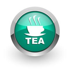 tea green glossy web icon