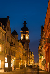 The night scene of shopping street in Heidelburg, Germany
