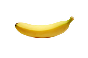 One Yellow Banana Isolated Over a White Background