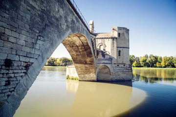 Pont Saint-Benezet in Avignon, France