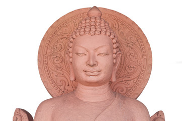 The sculpture of Buddha made from stone