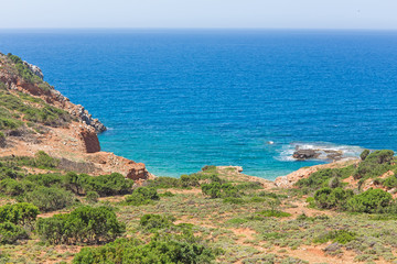 colorful landscape of the Mediterranean