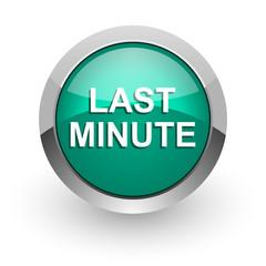 last minute green glossy web icon