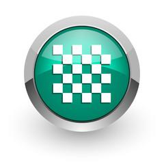 chess green glossy web icon