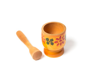 Traditional wooden pestle