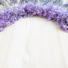 Lavender on a wooden desk.