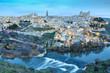 Vista panorámica de Toledo al amanecer (España)