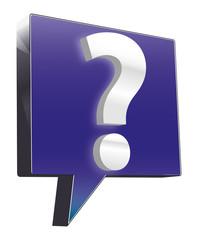 FAQ Fragezeichen 3d