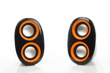 Audio speakers isolated