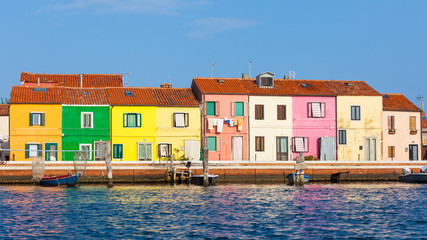 typical houses in the lagoon of Venice