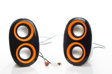 Audio speakers isolated