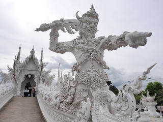 Door keeper giant at Wat Rong Khun