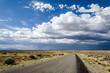 Strasse Wüste Wolken