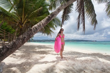 Beautiful woman the beach
