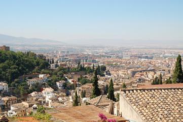 Spain, Granada, city view