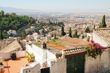 Spain, Granada, city view, Arab quarter Albayzín