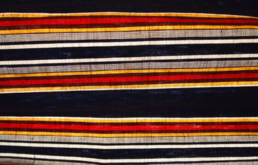 Fabric with colorful stripes