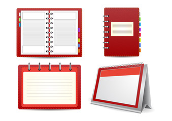 Datebook, calendar and organizer set