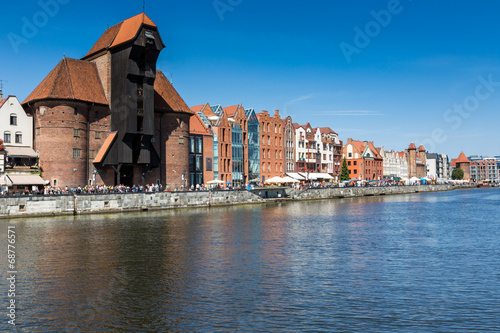 The medieval port crane over Motlawa river.Gdansk.Poland - 68776571